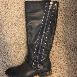 Black knee high boots- size 8